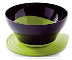 ELEGANZIA Serving Bowls Green and Black