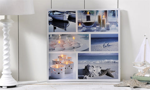 Flickering LED Canvas Print Beach Scenes - Enchanted Illuminations