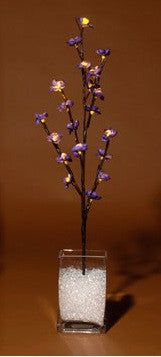 Lighted Flower Branches Purple Blossoms - Enchanted Illuminations