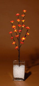 Lighted Flower Branches Red Blossoms - Enchanted Illuminations
