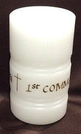 1st Communion Candle - Enchanted Illuminations