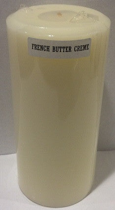3X6 French Butter Cream Scented Pillar - Enchanted Illuminations