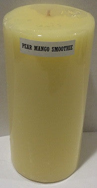 3X6 Pear Mango Smoothie Scented Pillar - Enchanted Illuminations