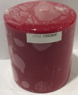 3x3 Apple Cinnamon Scented Pillar - Enchanted Illuminations