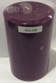 4x6 Spiced Plum Scented Pillar - Enchanted Illuminations