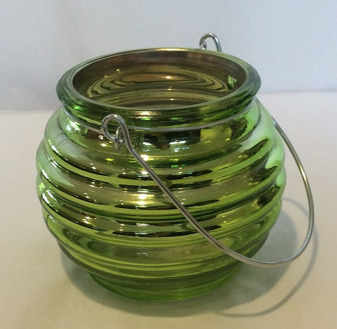 Green Mercury Hanging Votive Holder - Enchanted Illuminations