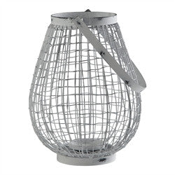 Antique White Wire Lantern - Enchanted Illuminations