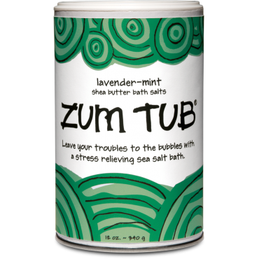 Zum Tubs Bath Salt Shaker Can Lavender Mint - Enchanted Illuminations