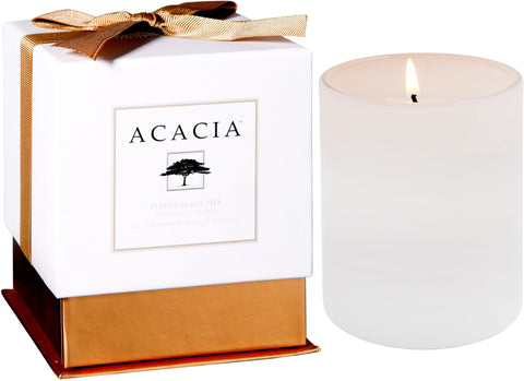 Fleurs Blanches Acacia Candle - Enchanted Illuminations