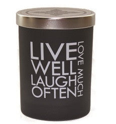 Live Well Laugh Often Love Much 12 oz Expression Candle - Enchanted Illuminations