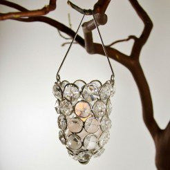 Beaded Hanging Votive Holder - Enchanted Illuminations