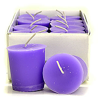 15 Hour Hand Poured Lavender Votives - Enchanted Illuminations