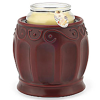 Roman Red Crock Decorative Jar Warmer - Enchanted Illuminations