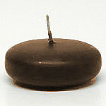 Small Disk Floating Candle Brown - Enchanted Illuminations