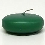 Large Disk Floating Candle Forest Green - Enchanted Illuminations