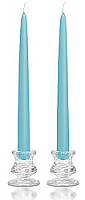 "Unscented 10"" Dripless Tapers Light Blue - Enchanted Illuminations"