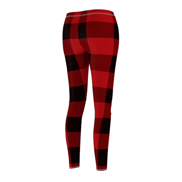 Black and Red Plaid Women's  Casual Leggings | The Chocolate Chicken | Modern Farmhouse Home Decor