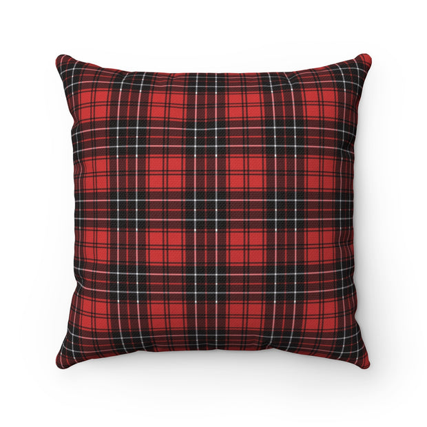 Red and Black Plaid Checked Pillow | The Chocolate Chicken | Modern Farmhouse Home Decor