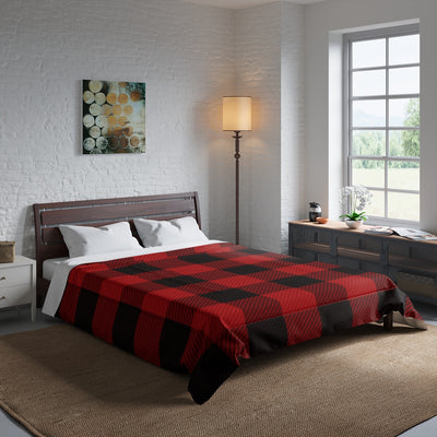 Red and Black Lumber Jack Plaid Comforter | The Chocolate Chicken | Modern Farmhouse Home Decor