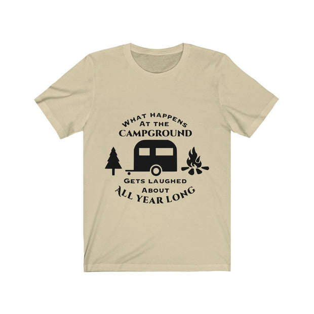 Camping Unisex Jersey Short Sleeve Tee | The Chocolate Chicken | Modern Farmhouse Home Decor
