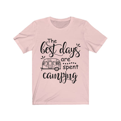 Best Days are Camping  Unisex Jersey Short Sleeve Tee