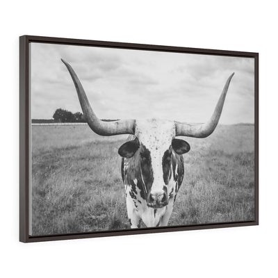 Texas Longhorn Canvas | The Chocolate Chicken | Modern Farmhouse Home Decor