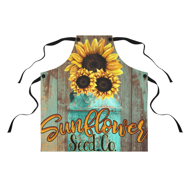 Sunflower Apron | The Chocolate Chicken | Modern Farmhouse Home Decor