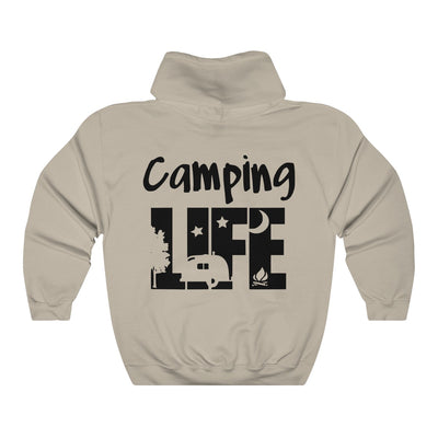 Camping Life Unisex Heavy Blend™ Hooded Sweatshirt | The Chocolate Chicken | Modern Farmhouse Home Decor