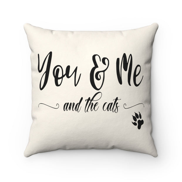 You Me and the Cats Pillow | The Chocolate Chicken | Modern Farmhouse Home Decor