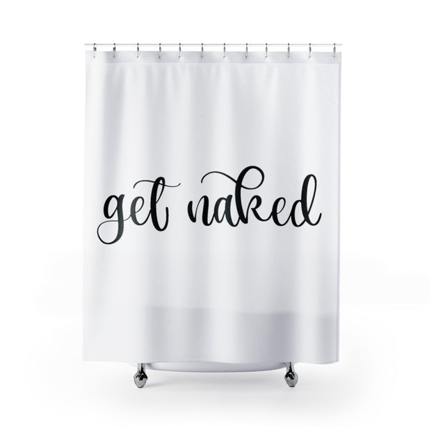 Get Naked Shower Curtain | The Chocolate Chicken | Modern Farmhouse Home Decor
