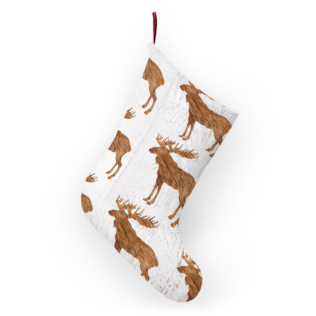 Woodland Moose Christmas Stockings | The Chocolate Chicken | Modern Farmhouse Home Decor