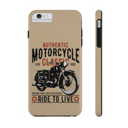 Classic Motorcycle Case Mate Tough Phone Cases | The Chocolate Chicken | Modern Farmhouse Home Decor