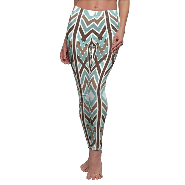 Aztec Chevron Women's Casual Leggings | The Chocolate Chicken | Modern Farmhouse Home Decor
