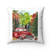 Red Truck Watercolor Fall Pillow | The Chocolate Chicken | Modern Farmhouse Home Decor