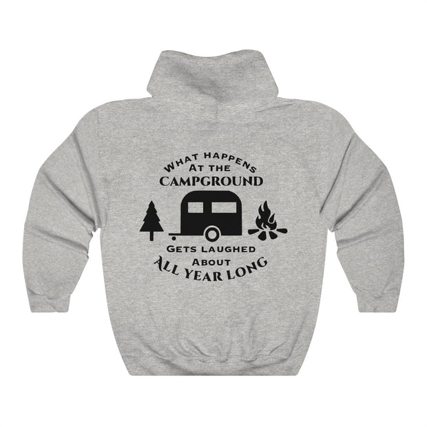 Camping Unisex Heavy Blend™ Hooded Sweatshirt | The Chocolate Chicken | Modern Farmhouse Home Decor