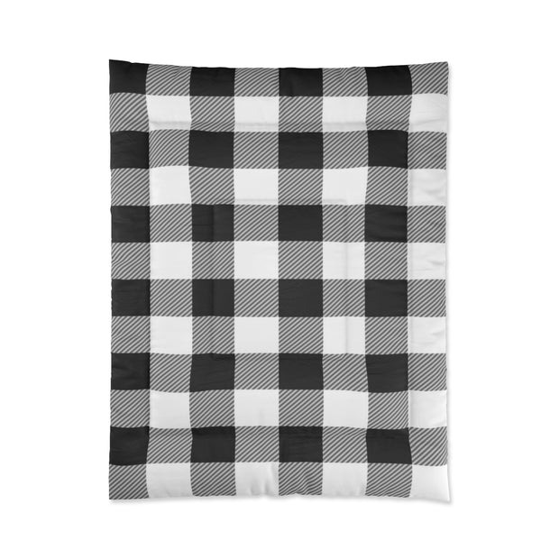 Black and White Plaid Comforter | The Chocolate Chicken | Modern Farmhouse Home Decor