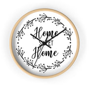 Home Sweet Home Wall Quote Clock | The Chocolate Chicken | Modern Farmhouse Home Decor