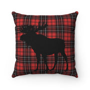 Red Plaid Moose Pillow | The Chocolate Chicken | Modern Farmhouse Home Decor