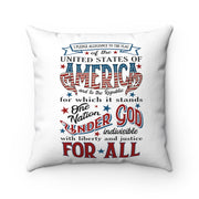 Pledge of Allegiance Red White and Blue Patriotic Pillow | The Chocolate Chicken | Modern Farmhouse Home Decor