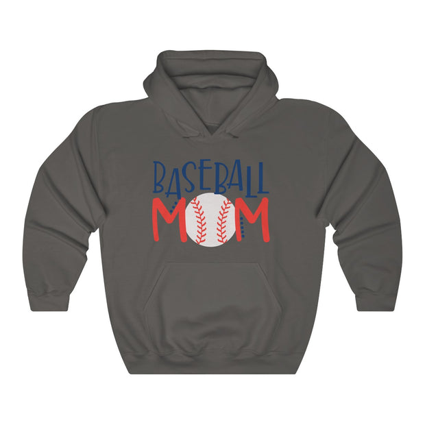 Baseball Mom Unisex Heavy Blend™ Hooded Sweatshirt | The Chocolate Chicken | Modern Farmhouse Home Decor