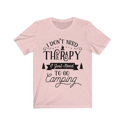 Camping Therapy Unisex Jersey Short Sleeve Tee | The Chocolate Chicken | Modern Farmhouse Home Decor