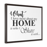 What I Love Home Canvas Print | The Chocolate Chicken | Modern Farmhouse Home Decor