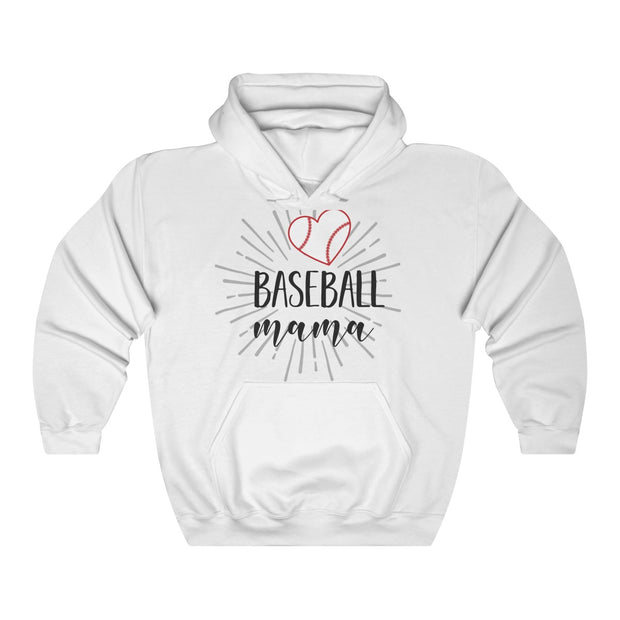 Baseball Mama Unisex Heavy Blend™ Hooded Sweatshirt | The Chocolate Chicken | Modern Farmhouse Home Decor