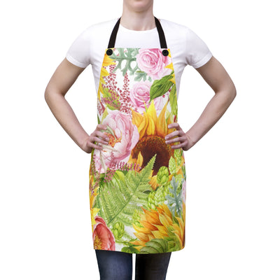 Sunflower Garden Apron | The Chocolate Chicken | Modern Farmhouse Home Decor