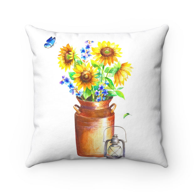 Sunflower Farmhouse Pillow | The Chocolate Chicken | Modern Farmhouse Home Decor