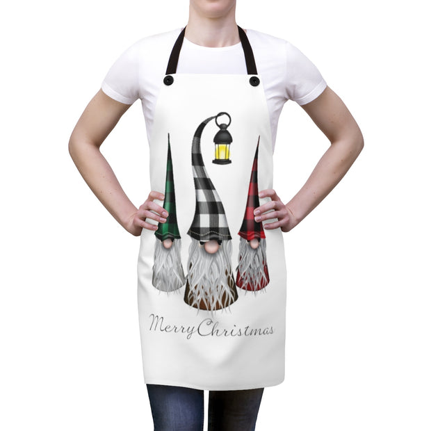 Merry Christmas Gnome Apron | The Chocolate Chicken | Modern Farmhouse Home Decor