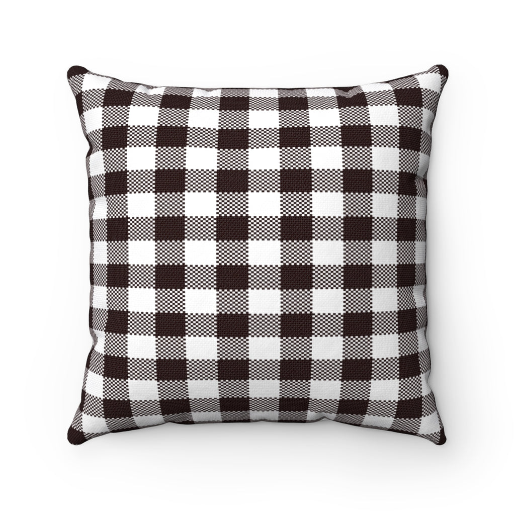 Plaid Pillows, Black and White Plaid Pillow, Cabin Pillow, Throw Pillows, Plaid Pillow, Farmhouse Pillows