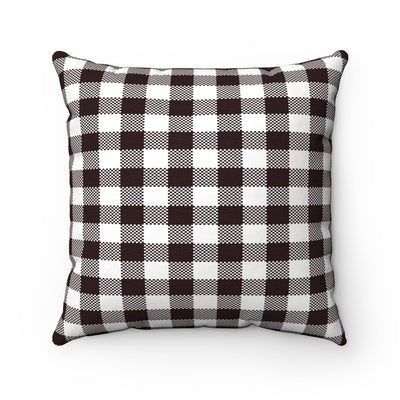 Black and White Plaid Pillow | The Chocolate Chicken | Modern Farmhouse Home Decor