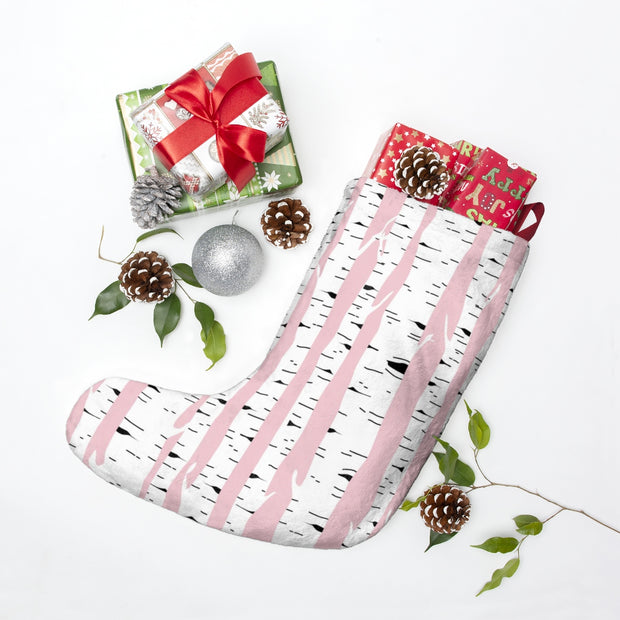 Pink Woodland Christmas Stockings | The Chocolate Chicken | Modern Farmhouse Home Decor