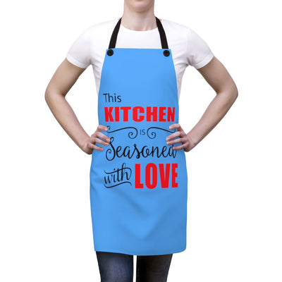 Seasoned with Love Apron | The Chocolate Chicken | Modern Farmhouse Home Decor